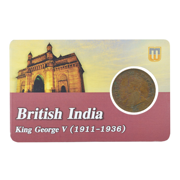 British india King George V - 1_2 pice 1921 calcutta