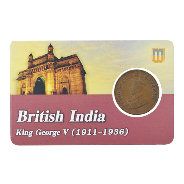 British india King George V - 1_2 pice 1923 calcutta