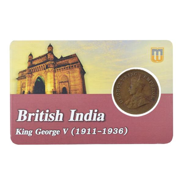 British india King George V - 1_2 pice 1928 calcutta