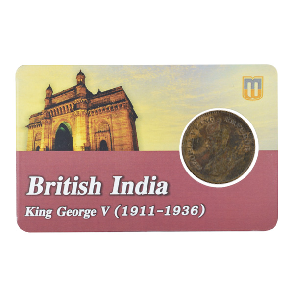 British india King George V - 1/2 pice Coin 1931 calcutta