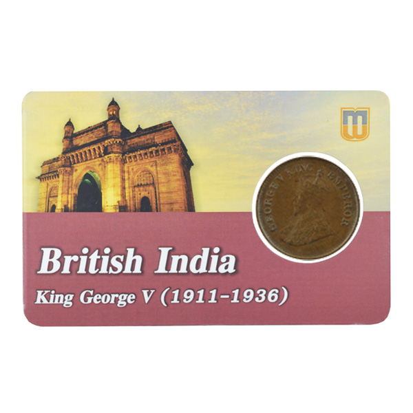 British india King George V - 1/2 pice Coin 1935 calcutta