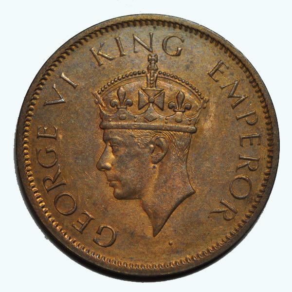 British India King George VI Quarter Anna 1942 Calcutta