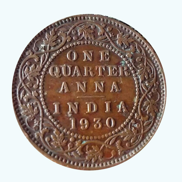 British India King George V Quarter Anna 1930 Mumbai