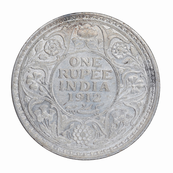 British India King George V One Rupee Coin 1912 Bombay