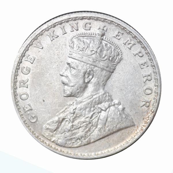 British India King George V One Rupee 1914 Bombay