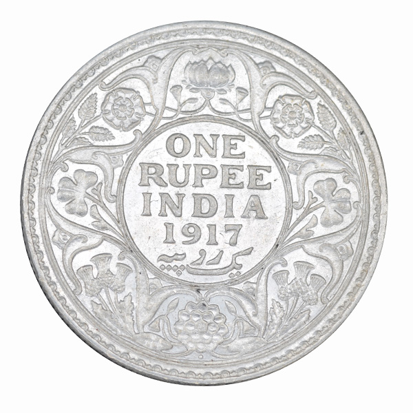 British India King George V One Rupee 1917 Bombay
