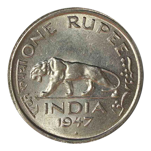 British India King George VI One Rupee Coin 1947 Mumbai