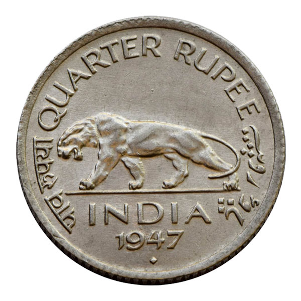 British India King George VI Quarter Rupee 1947 Mumbai