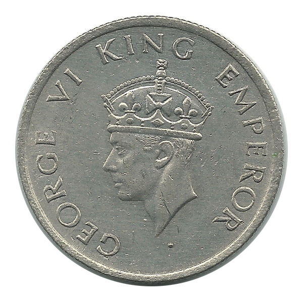 British India King George VI Half Rupee 1946 Bombay