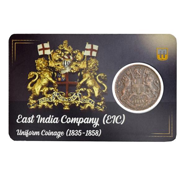 East India Company Quarter Anna Coin