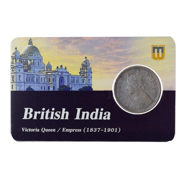 British India Victoria Empress - 1/12 Anna Coin 1891 calcutta
