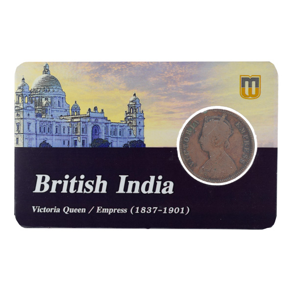 British India Victoria Empress - Quarter Anna Coin 1893 calcutta