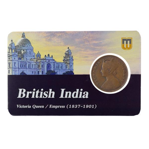 British India Victoria Empress - Quarter Anna 1901 calcutta