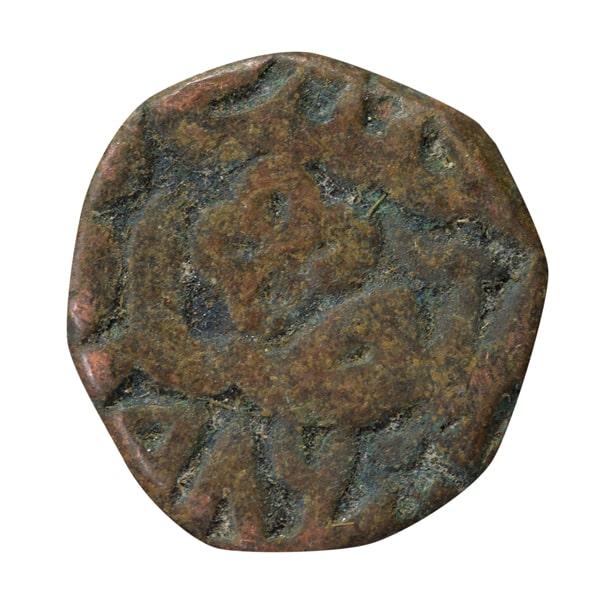 Mughal Dynasty Coin of Jalaluddin Muhammad Akbar - Copper Dam - Ajmer Mint 986 AH