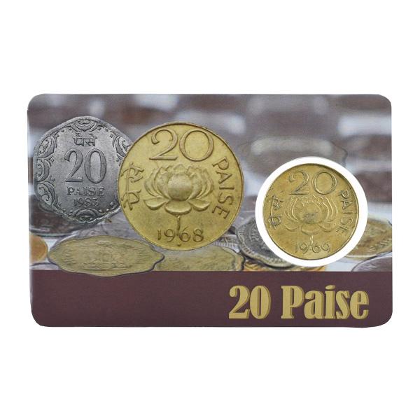Republic India 20 Paise Coin 1969 Calcutta