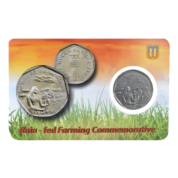 Republic India -1 Rupee Rainfed farming