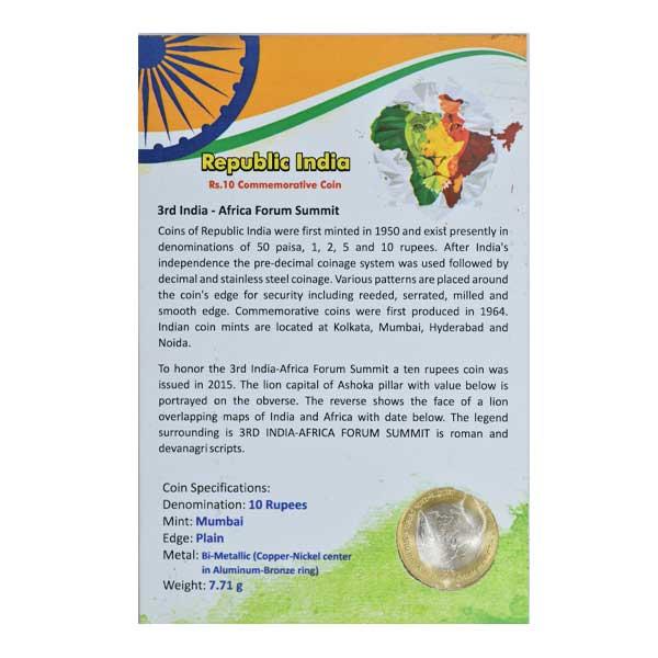 Republic of India - Commemorative Coin of 3rd India-Africa Forum Summit