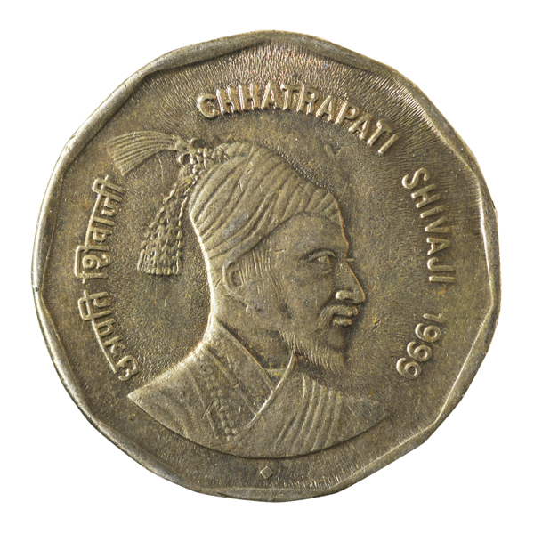 Republic India 2 Rupees Commemorative Coin of Chhatrapati Shivaji Maharaj