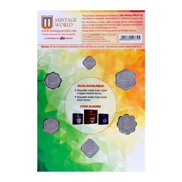 Republic India Coin Card of Aluminium Series