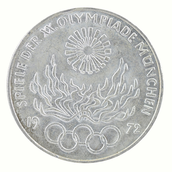 Federal Republic of Germany- 10 Mark commemorative coin with Olympic Flame of Munich Olympic Series