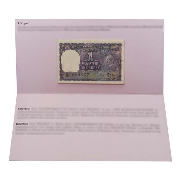 Mahatma Gandhi Commemorative Banknote Description Card- 1 Rupee