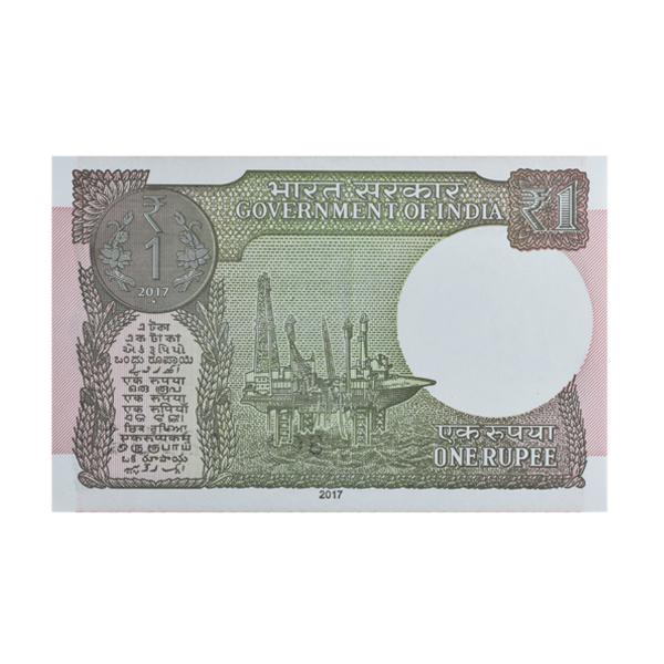 1 Rupee Note of 2017 - Shaktikanta Das -Progressive Series