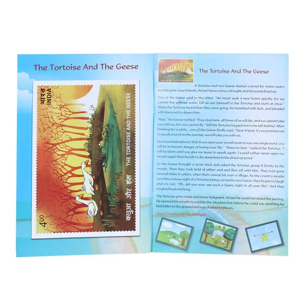 3D Jigsaw Puzzles of Postage Stamps with Moral Stories