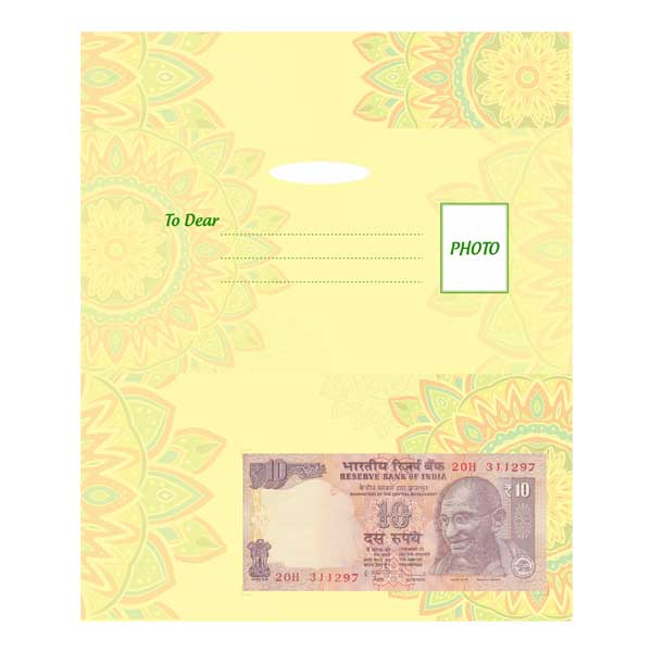Greeting Card with Currency Note of Your Auspicious Date