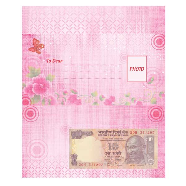 Greeting Card with Your Personal Birthday Currency Note