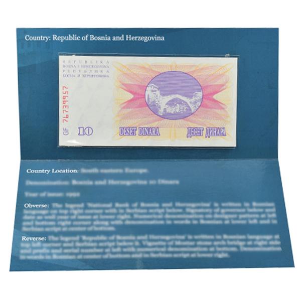 Bosnia and Herzegovina Description Card - 10 Dinara