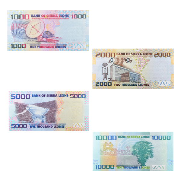 Set of Sierras Leone 4 Currency Note