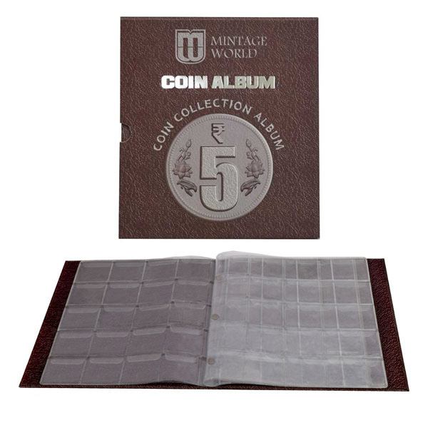 Mintage Coin Collection Album for 5 Rupees Definitive Coins