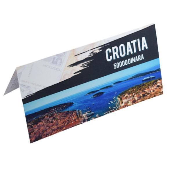 Croatia Description Card - 50000 Dinara