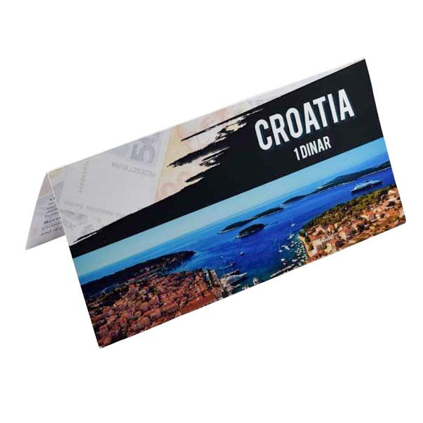Croatia Description Card - 1 Dinara