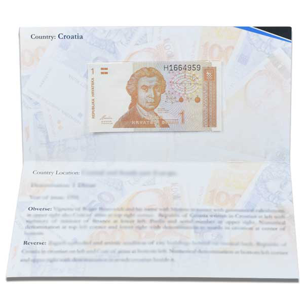 Croatia Banknote 1 Dinara with Description