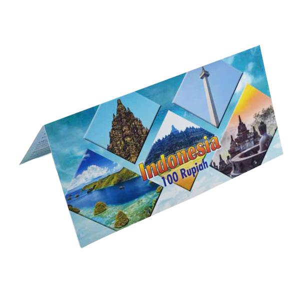 Indonesia  Description Card - 100 Rupiah