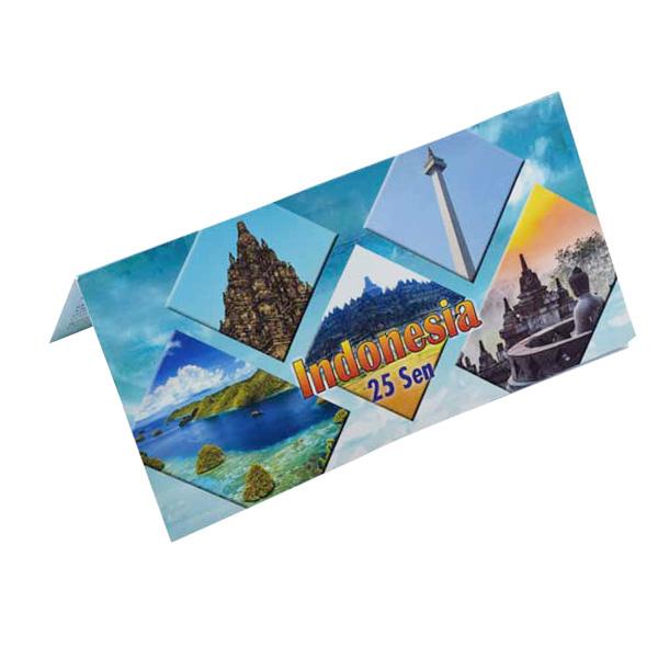 Indonesia  Description Card - 25 Sen