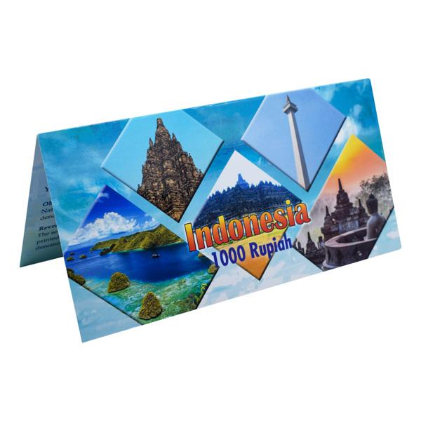 Indonesia  Description Card - 1000 Rupiah