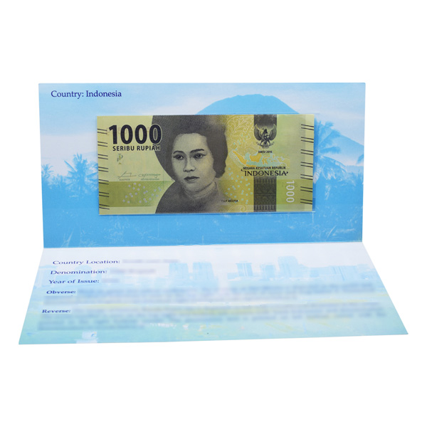 Indonesia  Description Card - 1000 Rupiah