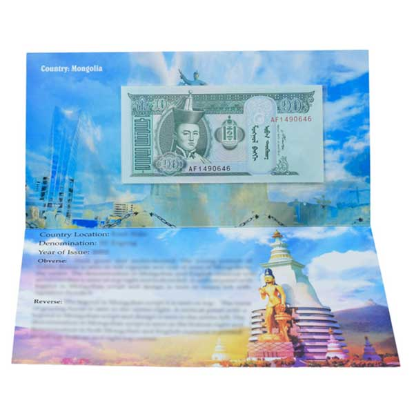 Mongolia Banknote 10 Togrog with Description