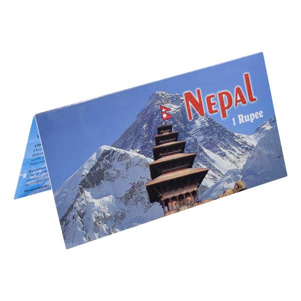 Nepal Description Card - 1 Rupee