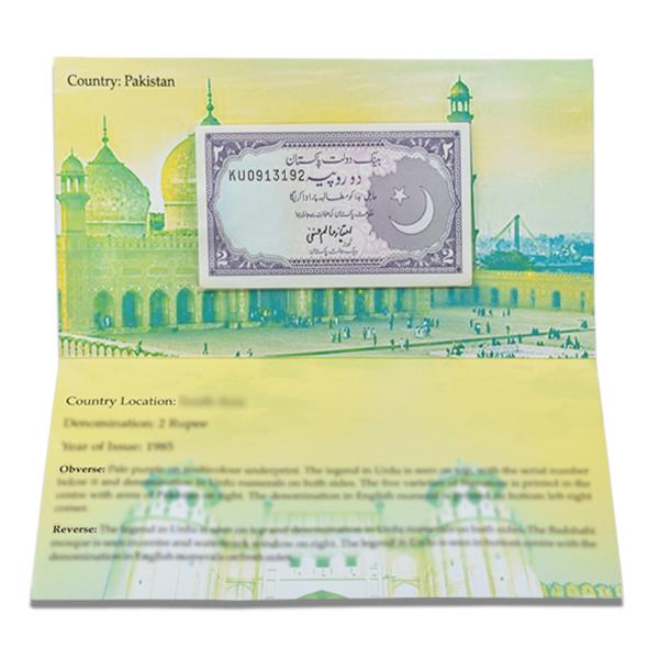 Pakistan Description Card - 2 Rupees