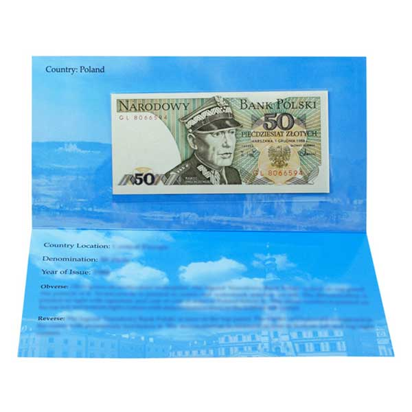 Poland Banknote 50 Zloty with Description