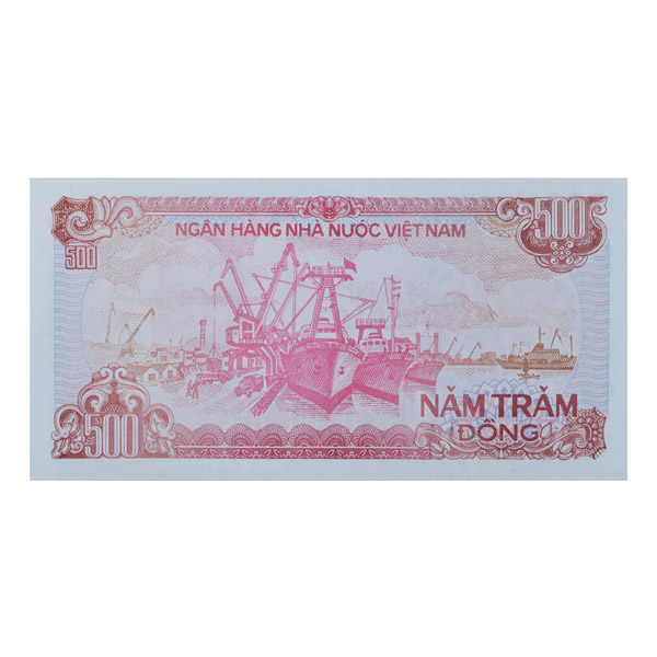 Vietnam Banknote 500 Dong with Description