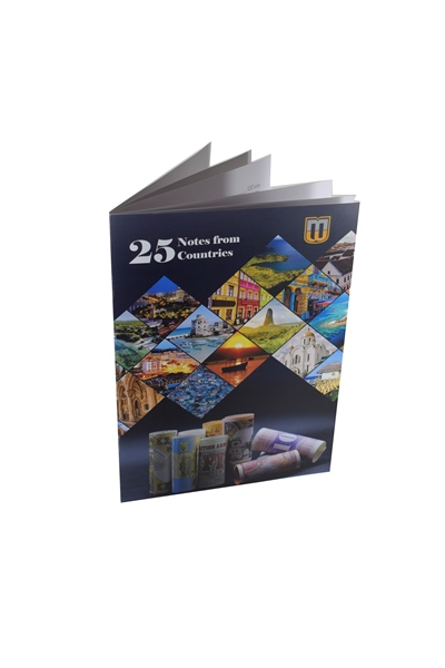 Set of 25 banknotes from 25 countries