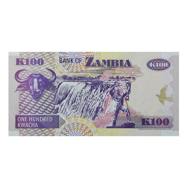 Zambia Description Card - 100 Kwacha
