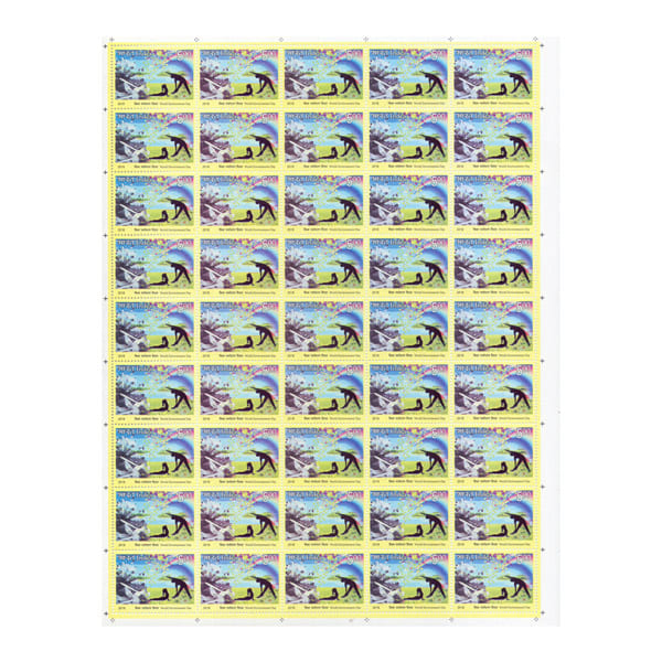 Set of 4 World Environment Day Full Stamp Sheet 5Rs - 2018