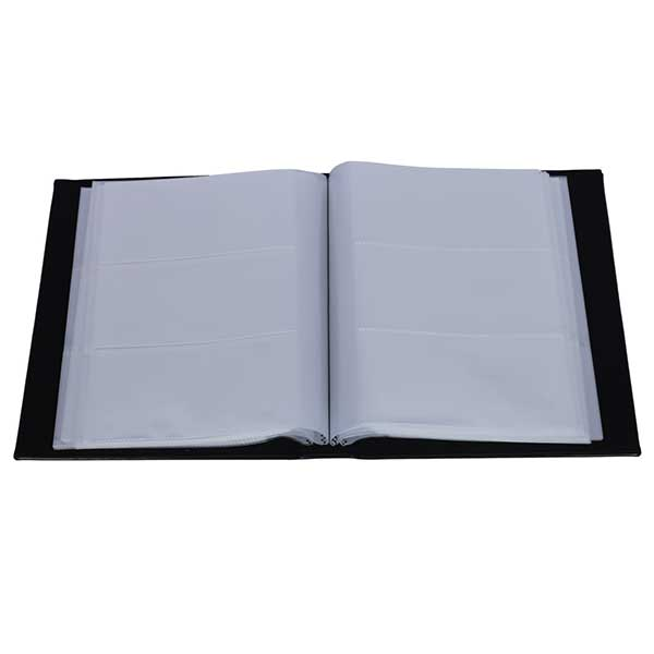 Lighthouse Album for 300 banknote - Black - with 100 intergrated clear sheets