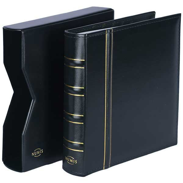 Lighthouse Coin Album NUMIS - in classic design with Slipcase, Green