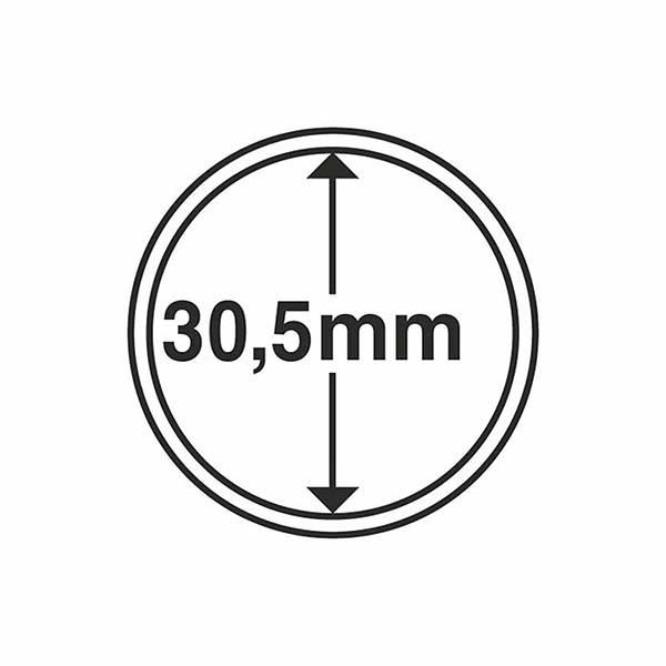 Lighthouse Round Coin Capsules inner diameter 30.5mm - 100 per pack